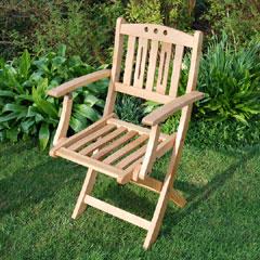 White Oak Folding Armchair