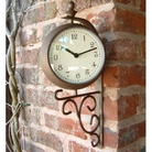 Antique Rust Clock Thermometer