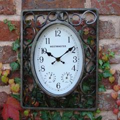 Decorative Metal Scroll Clock