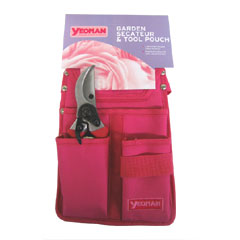 Pink 3 Pocket Pouch and Secateur