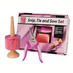 Pink Snip Tie And Sow Set