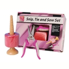 Pink Snip Tie And Sow Set
