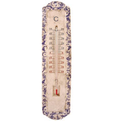 Aged Ceramic Thermometer