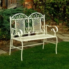 Sweetheart Wrought Iron Two Seater Bench