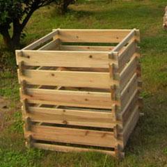 Narrow Slatted FSC Compost Bin