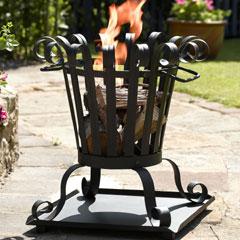 Small Cone Fire Basket
