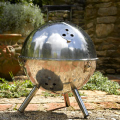 Portable Round Stainless Steel  BBQ