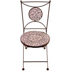 Blue & White Ceramic Chair