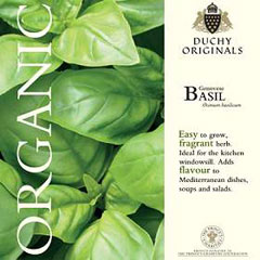 Basil - Duchy Originals Organic Seeds