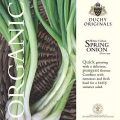 Spring Onion  White Lisbon - Duchy Originals Organic Seeds