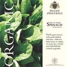 Spinach  Palco F1 - Duchy Originals Organic Seeds