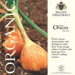 Onion - Duchy Originals Organic Seeds
