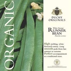 Runner Bean White Emergo - Duchy Originals Organic Seeds
