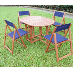 Navajo Garden Table and 4 Chairs Set