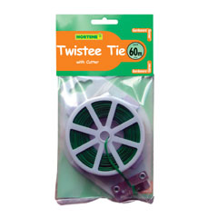 Plant Twist Tie With Cutter 60m