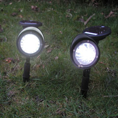 Set Of 2 Plastic Solar Garden Spot lights