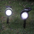 Set Of 2 Plastic Solar Garden Spot lights