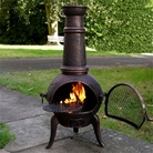 Medium Chimenea and BBQ Grill