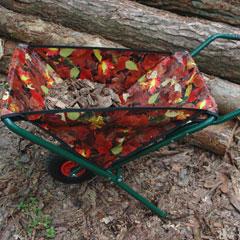 Leaf Design Folding Wheelbarrow