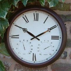 Antique Rust Garden Clock
