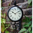 Black Clock Thermometer