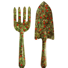 Ladybird design garden trowel and fork set for Garden trowel and fork
