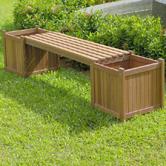 Planter Box Garden Bench