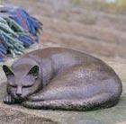 Bronze sleeping cat