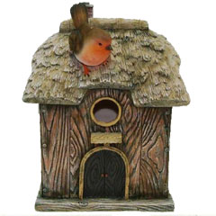 Resin Thatched Effect Birdhouse