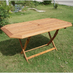 Cadiz 150cm Hardwood Rectangular Folding Table