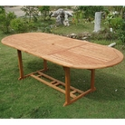 Cadiz 2.3m Hardwood Oval Extending Table