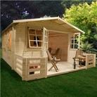 BillyOh Frontier Montana Log Cabin 13'x17' Inc Verandah
