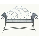 Kingswood Antique Black Lutton Garden Bench