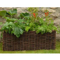 Burgon and Ball Willow Vegetable Planter With Planting Bag