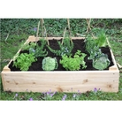 Wooden Square Raised Bed 15cm High