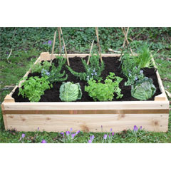 Wooden Square Raised Bed With Coppa-Stoppa 20cm High