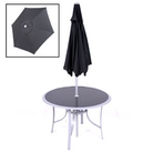 Boston Black 2.2m Steel Crank Parasol