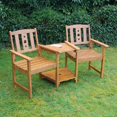 Greenfingers FSC Acacia Cubero Love Seat