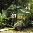 Halls Highgrove Greenhouse & Base 8ft5 x 6ft4