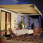 Ascot Patio Awning (2.5m - Green and beige striped)