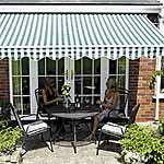 Henley Patio Awning (2.5m - Green and white striped)