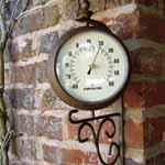 Indoor/outdoor Clock and Thermometer
