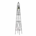 Black Coronet Obelisks (Pair)
