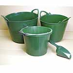 Trug, Bucket and Handy Scoop Set