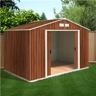 BillyOh Sherwood 8&#x27;x6&#x27; Woodgrain Metal Shed
