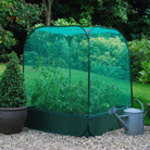 Pop up net cover for grow bed