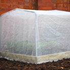 Micro mesh cover for timber grow bed