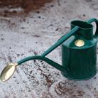 Haws green metal 1 litre watering can