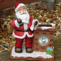 Santa and Chimney With Solar Light