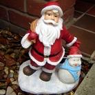 Santa And Snowman With Solar Light